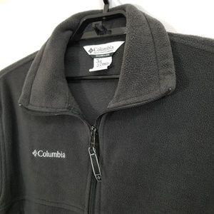 Columbia Fleece Jacket Zip Front Black Fall Autumn